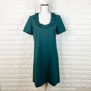 J. Crew Ruffle Collar Short Sleeve Shift Dress